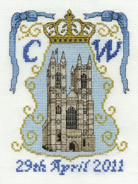 Royal Wedding Westminster Abbey Cross Stitch Kit
